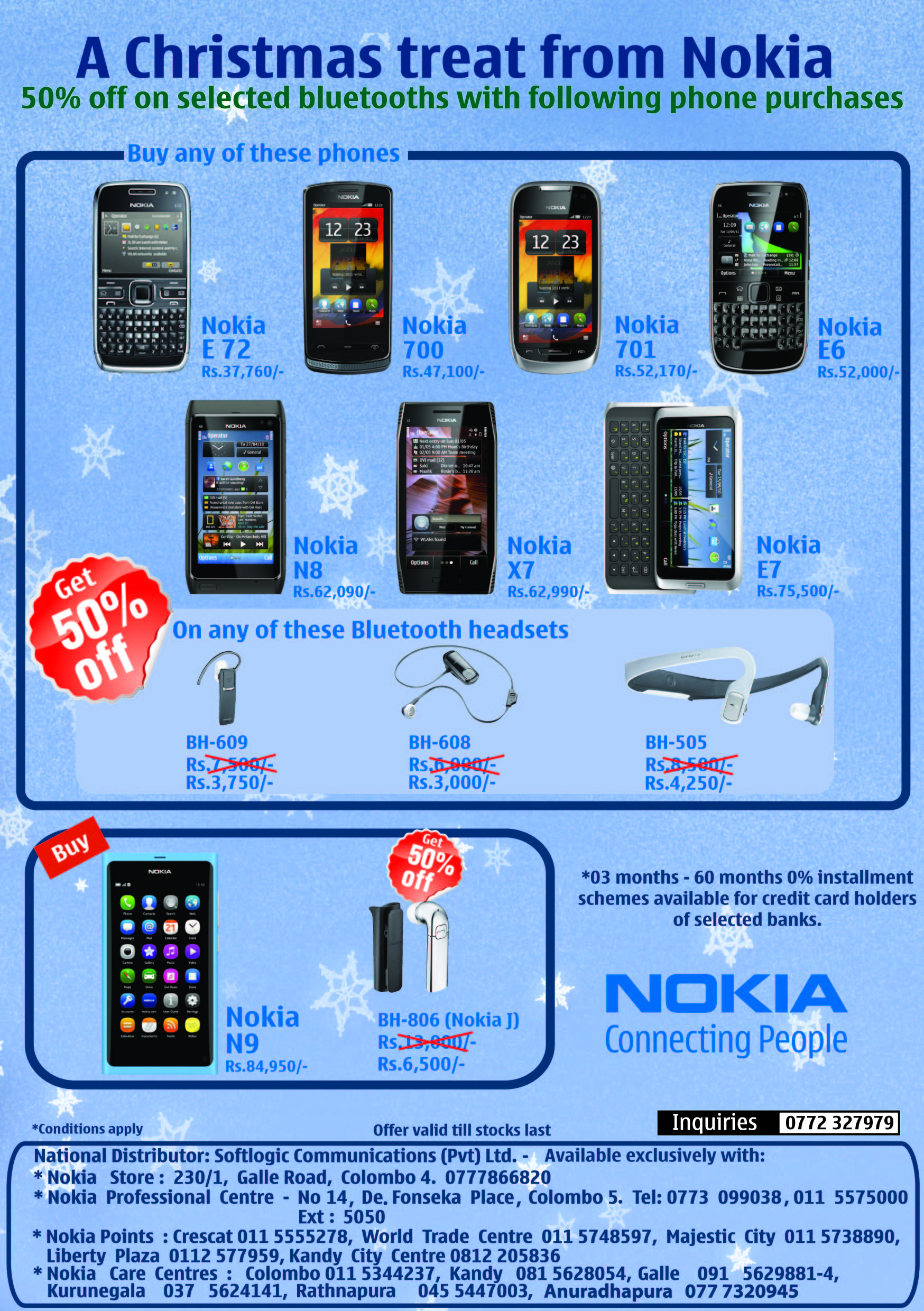 50 Discounts On Selected Bluetooth S With Phone Purchases At Nokia Srilanka 171 Synergyy