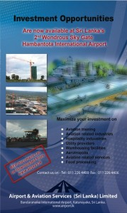 Business Investment Opportunity in Hambantota International Airport