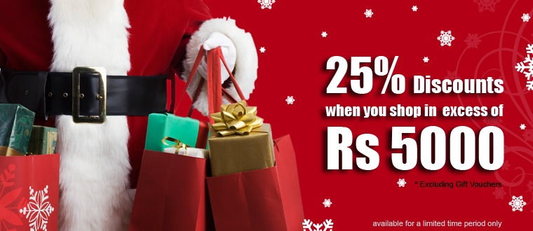 Wedding Gift For 5000 Rs : ... 25% Discounts on shopping excess Rs.5000.00 for charismas season