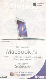 Apple MacBook Air Rs. 149,990.00 onwards @ Abans