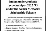Indian Undergraduate Scholarships for Srilankan Students