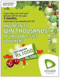 Reactivate your unused SIM of 3 Month and win thousands of valuable gift vouchers