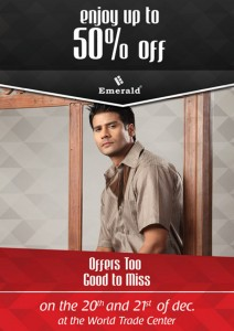 Enjoy 50% Off for Emerald Products on 20th and 21st December 2011