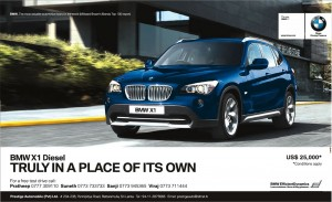 BMW X1 Diesel for USD 25,000 in Srilanka