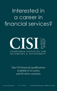 Chartered Institute for Securities & Investment [CISI- UK] in Srilanka