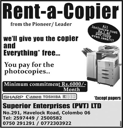 copier for rent with minimum commitments of rs 6 000 per