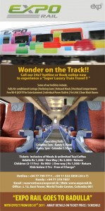 Expo Rail [Super Luxury Train Services] between Colombo- Kandy,