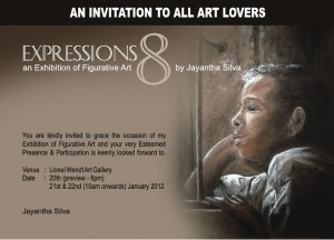 Expressions 8 an Exhibition of Figurative Art by Jayantha Silva