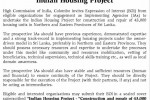 "Indian Housing Project Expression of Interest – ""Construction and Repair of 43,000 Housing Units in Northern and eastern Provinces"