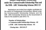 Indian Postgraduate Scholarships 2012/2013 for Srilankan Students