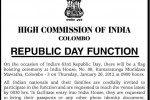 Indian Republican Day Function – High Commission of India, Colombo