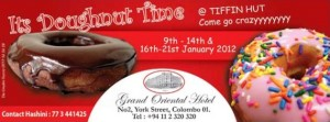 It's Doughnut Time at Grand Oriental Hotel 16th to 21st January 2012