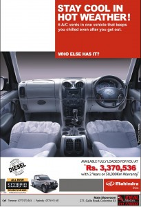Mahindra Rise Scorpio Double Cab 4 WD for Rs. 3,370,536 in Srilanka