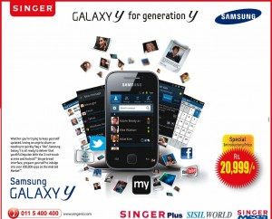 Samsung Galaxy Y for LKR. 20,999.00 From Singer