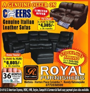 TV Chairs and Home Theaters Limited Offers by Royal Furnishers