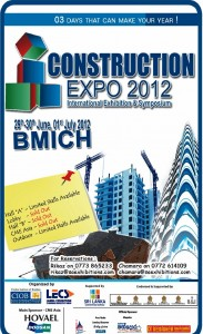 Construction EXPO 2012 from 29th – 30thJune to 1st July 2012 at BMICH