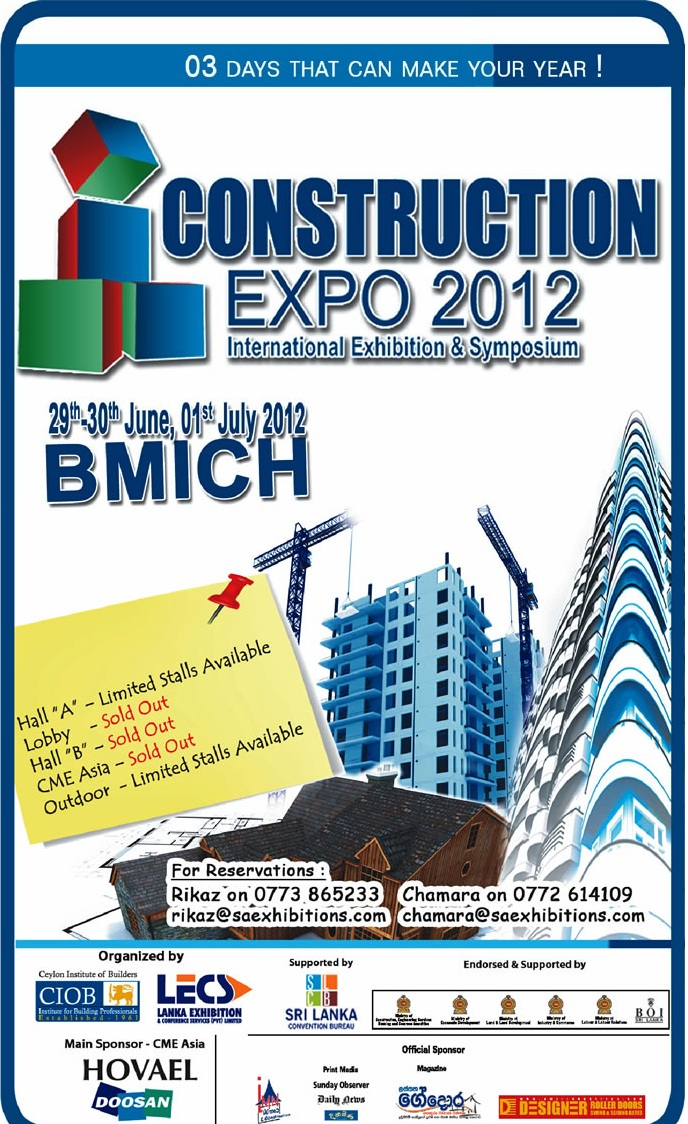Exhibition Stall Builders In Sri Lanka : Construction expo from th thjune to st july