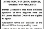 Examination for registration to practice Dental Surgery in Srilanka – 2012 by Srilanka Medical Council