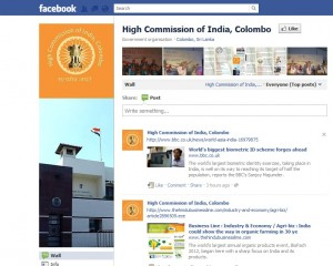 High Commission of India, Colombo launches Facebook Page