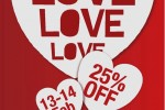 MONDY Valentine's day Offer – 25% off on 13th and 14th February 2012