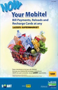 Pay your Mobitel Payment at LAUGFS Supermarkets