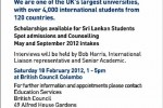 Sheffield Hallam University Spot Admonition and Counseling in Srilanka on 18th February 2012 – Education UK