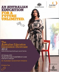 The Australian Education 2012 in Colombo by Australian Government Initiatives