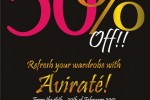 Up to 50% off on Selective Items @ Avirate, Srilanka