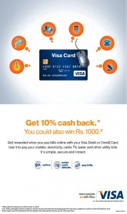 Pay VISA Online and Get 10% Cash Back