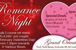 Valentine's Day Romance Night at Grand Oriental Hotel, Colombo