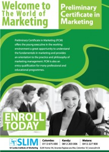 Preliminary Certificate Marketing by Srilanka Institute of Marketing (SLIM)