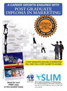 Post Graduate Diploma in Marketing by Srilanka Institute of Marketing (SLIM)