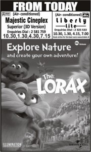 Dr.Seuss' The LORAX - 3D Animated Movie Screening in Srilanka