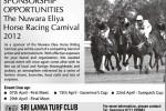 Opportunities to Sponsors the Nuwara Eliya Horse Racing Carnival 2012