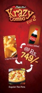 Pizza Hut Krazy Combo for 2 @ Rs 749.00 Only