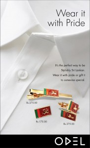 Srilanka Flag Printed Cufflink, Tie Pins and Batch only on ODEL Srilanka