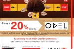 20% from ODEL for HSBC Credit cardholders from 31st March and 1st April 2012