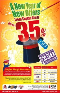 35% off for Seylan Bank Credit Card for this New Year Season