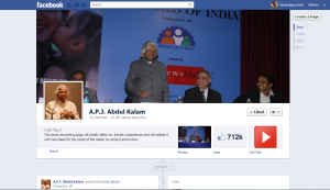 Dr. A.P.J Abdul Kalam on Facebook