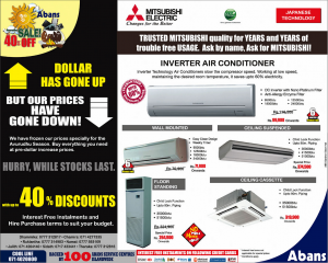 Abans New Year Sale 20122 - Up To 40 Discounts for Air Conditioner
