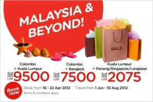 Air Asia offers Malaysia and Beyond Bookings open from 16th to 22nd April 2012