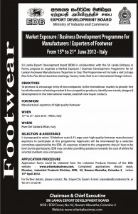 Business Development Programme for Manufacturer  Exporters of Footwear – from 15th to 21st June 2012 – Italy