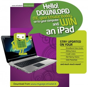 Download Etisalat Buddy onto your computer and WIN an iPad