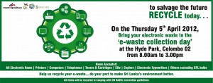 E-waste Collection Day – 5th April 2012 from 8.00 Am to 3.00 Pm