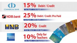 Fashion Bug Special Discounts for Commercial Bank, NDB Bank, HNB Bank, American Express Credit Cards