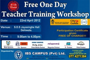Free Teacher Training Workshop in Srilanka