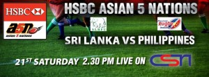 HSBC Asian 5 Nations (a5n) Rugby Matches telecast only on CSN