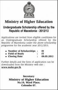 IT Scholarships for Srilankan