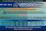 Industry Day and Engineering for Industry 2012 – Faculty of Engineering, University of Peradeniya