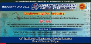 Industry Day 2012 – Faculty of Engineering, University of Peradeniya
